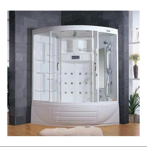 Ariel ZA216 Whirlpool Steam Shower With Ceiling Light  Ventilation Fan  Aromatherapy Scented Oils  Multi-Functional