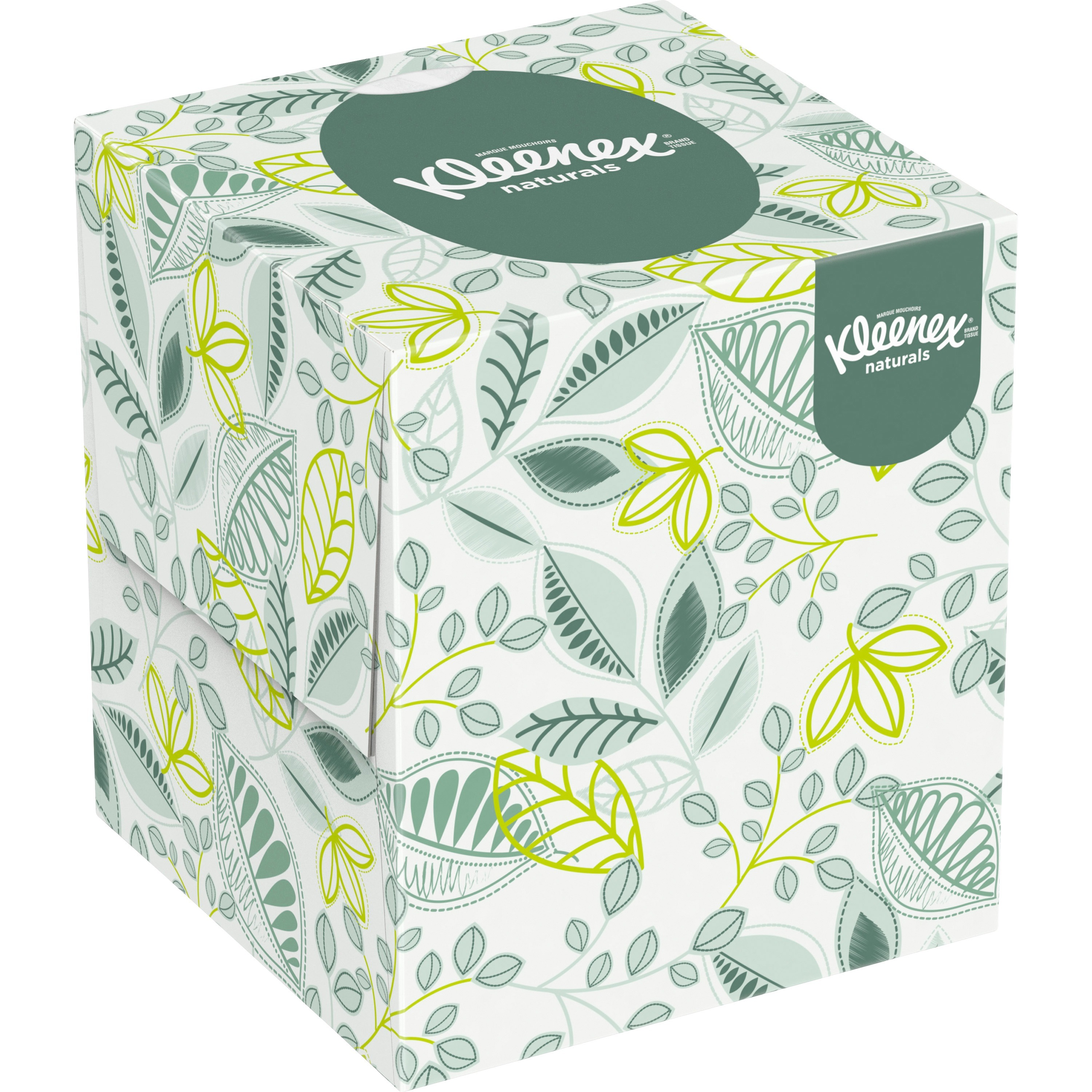 Kleenex, KCC21272CT, Naturals Facial Tissue, 36 / Carton, White