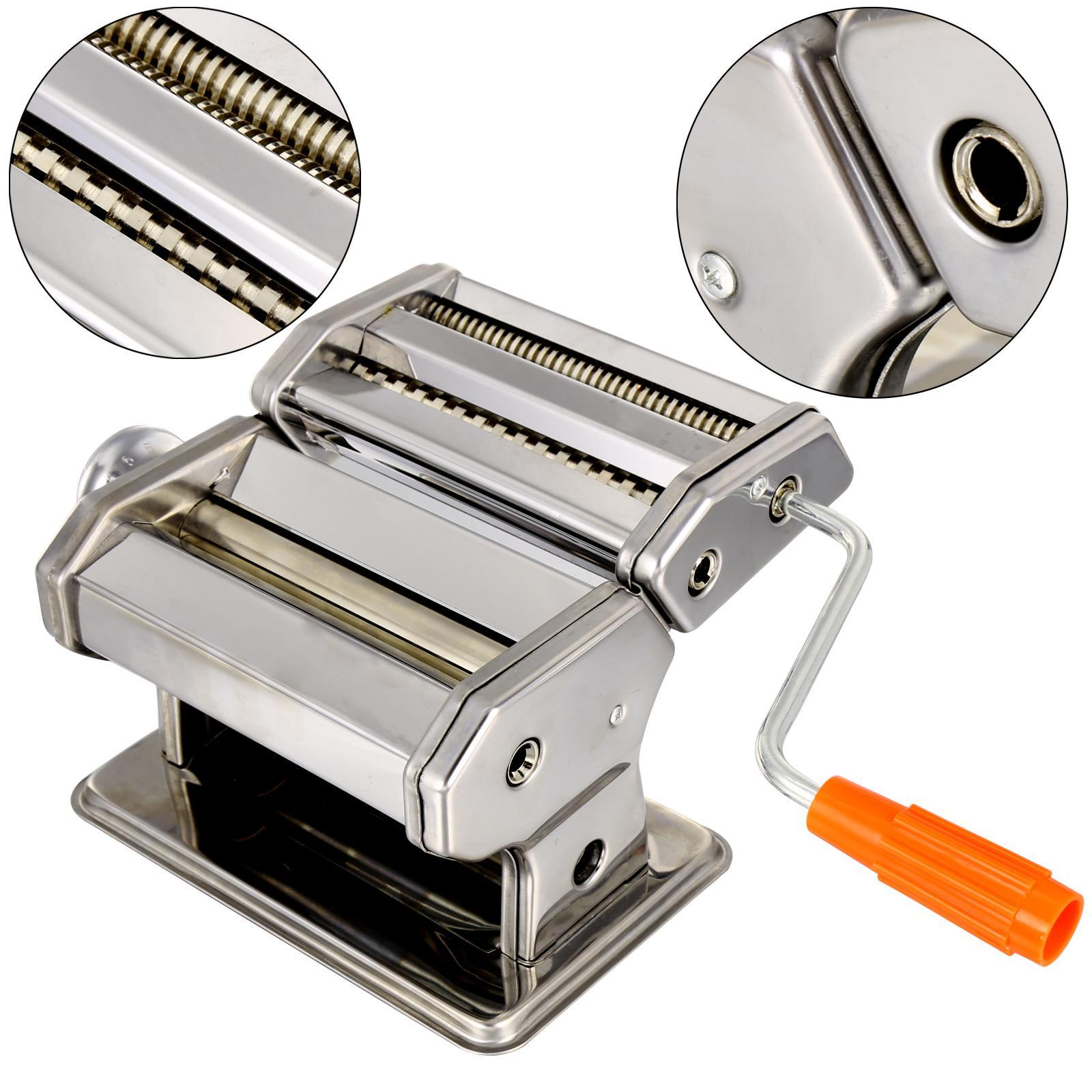 Home Kitchen Removable Stainless Steel Pasta Maker Noodle Making Dough  Machine- 2 Blades
