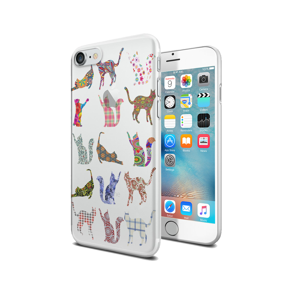 KuzmarK iPhone 7 Clear Cover Case - Kitty Cat