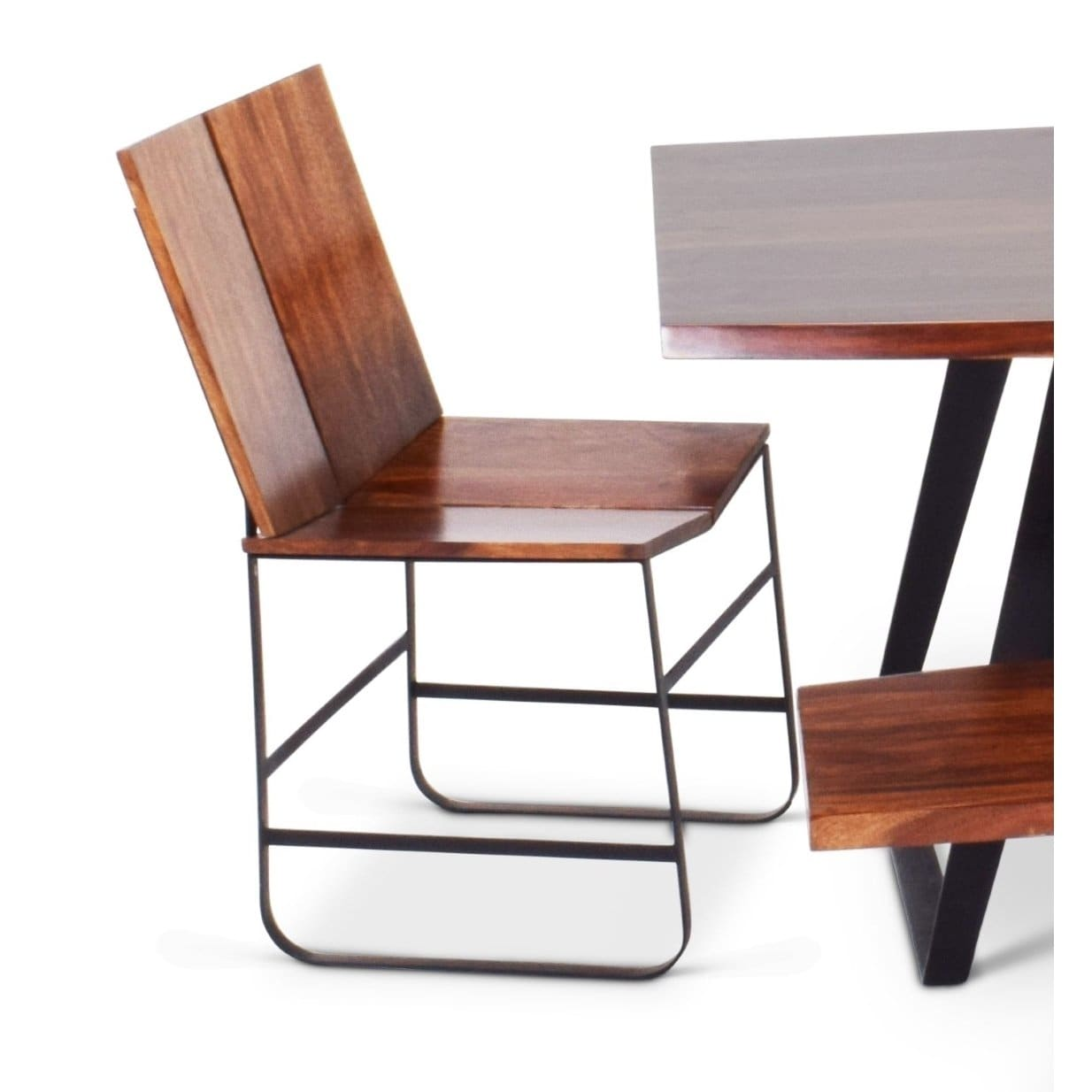 Greyson Living Barth Chestnut Finish Sheesham Wood Dining Chairs (Set Of 2)  By