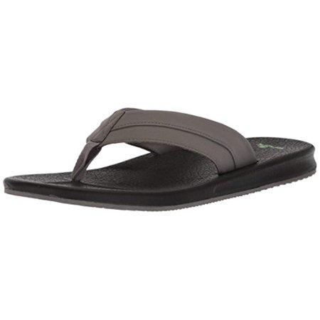 10df93b097a0 Sanuk Brumeister Men s Yoga Mat Sandals - 1015944 - Charcoal   Black -  Walmart.com