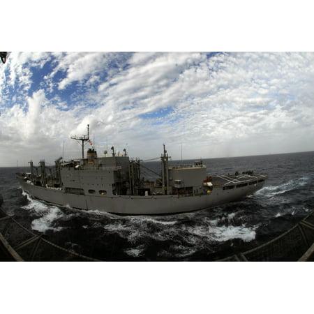 LAMINATED POSTER The Military Sealift Command combat stores ship USNS San Jose (T-AFS 7) steams alongside the Nimitz- Poster Print 24 x - Halloween Stores San Jose