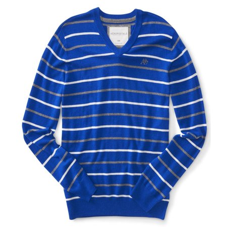 Aeropostale Mens Stripe A87 Knit Sweater ()