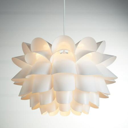 Possini Euro Design Possini Euro White Flower 19 12 Wide Pendant