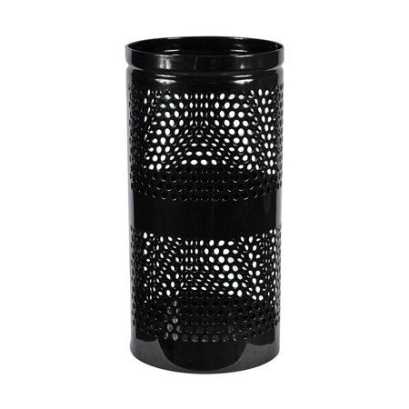 - Landscape Perforated Trash Receptacle (10 Gallons - Black Gloss)