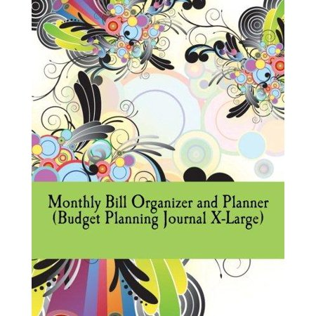 monthly bill organizer and planner budget planning journal x large