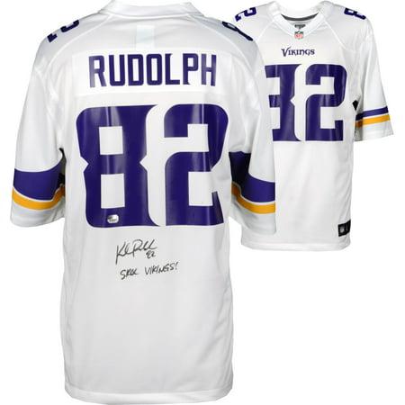 wholesale dealer 6e035 753e2 Kyle Rudolph Minnesota Vikings Autographed White Game Jersey ...