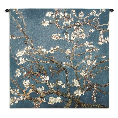Almond Blossom Large Wall Tapestry - 52W x 52H in.