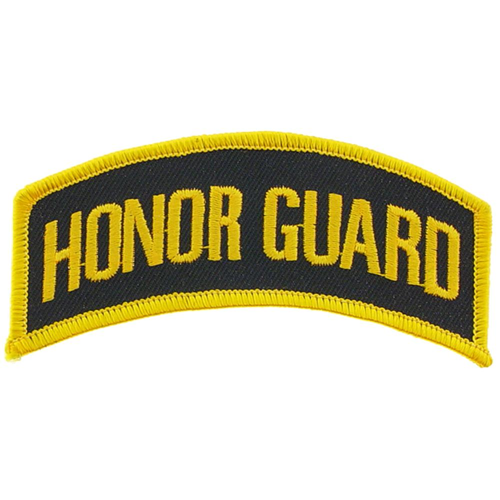 """U.S. Army Honor Guard Patch Black & Yellow 4"""""""