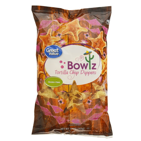 Great Value Tortilla Chip Dippers Bowlz, 10 oz for $<!---->
