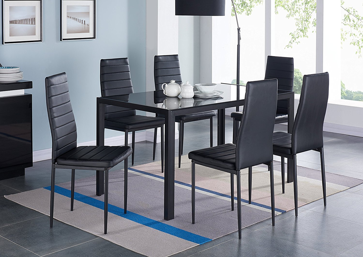 Merveilleux IDS Home 7 Pieces Dining Table Set, Home Dining Dinette Kitchen 6 People  Dining