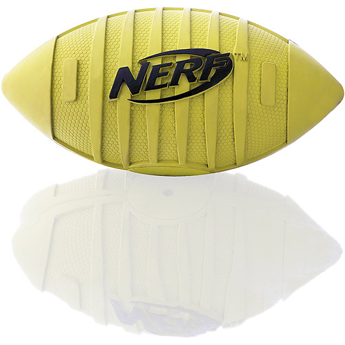 "Nerf 6.5"" Squeak Football, Green Black by Little Gifts"