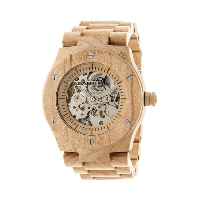 Earth EW3101 Grand Mesa Unisex Wrist Khaki & tan Wood Watch - image 1 de 1