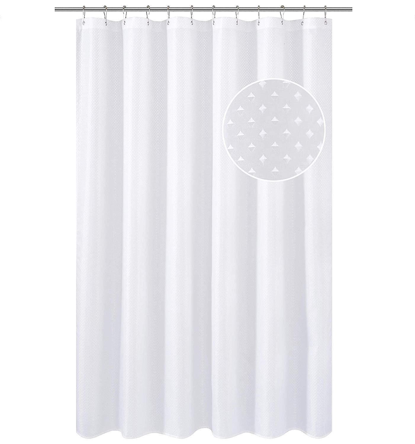 XLong Shower Curtain Liner Marble Bathroom Shower Curtain 72x84 Inch w//5 Magnets