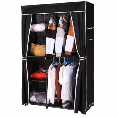 Non woven folding wardrobe shelves hanging bar shoes - Bedroom furniture for hanging clothes ...