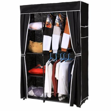 Non Woven Folding Wardrobe Shelves Hanging Bar Shoes