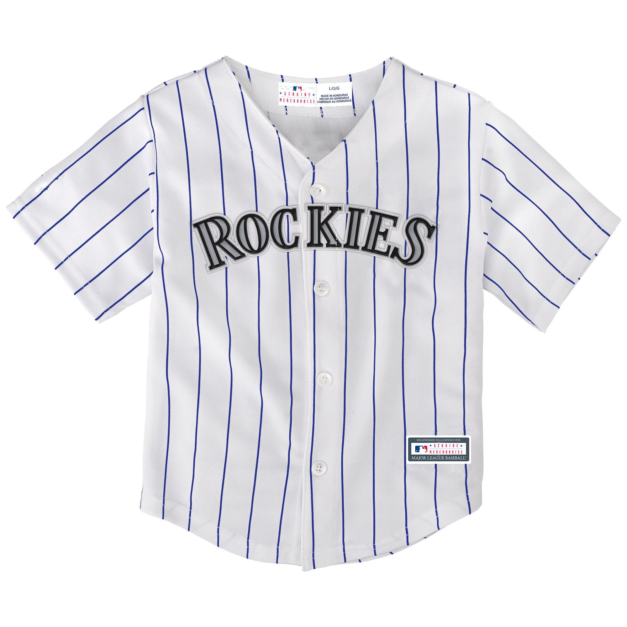 Colorado Rockies Toddler Home Replica Team Jersey - White/Purple
