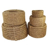 Twisted Manila Rope (5/8 inch) - SGT KNOTS - 3 Strand Natural Fiber Rope - Multipurpose Heavy Duty Utility Cord - Moisture and Weather Resistant - Commercial, Industrial, Outdoor, Home Decor (100 feet