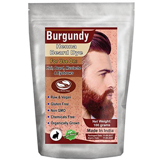 1 Pack Of Burgundy Henna Beard Dye For Men 100 Grams The Henna