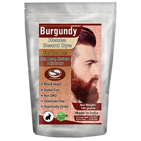 1 Pack of Burgundy Henna Beard Dye For Men 100 Grams - The Henna Guys - Beard Dye Walmart