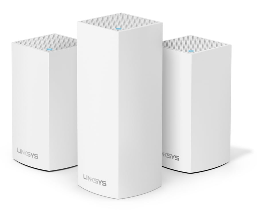 Linksys Velop Triband AC4600 Intelligent Mesh WiFi Router Replacement System | 3 Pack | Coverage up to 5,000 Sq Ft | Walmart Exclusive