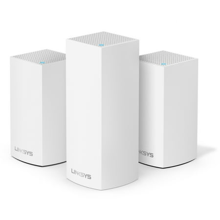 Linksys Velop Triband AC4800 Intelligent Mesh WiFi Router Replacement System | 3 Pack | Coverage up to 5,000 Sq Ft | Walmart