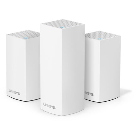 Linksys Velop Triband AC4800 Intelligent Mesh WiFi Router Replacement System | 3 Pack | Coverage up to 5,000 Sq Ft | Walmart Exclusive
