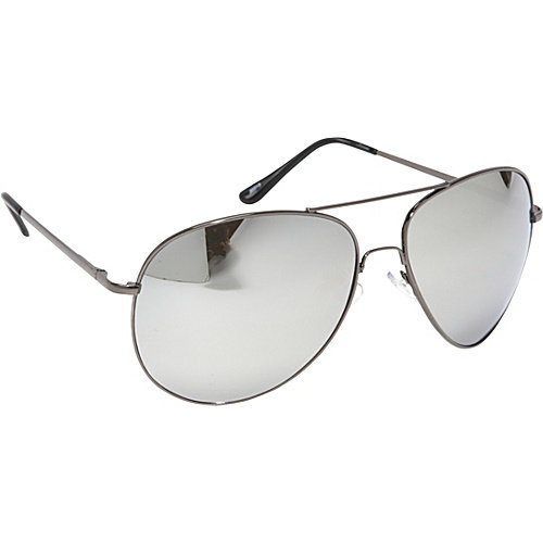 SW Global Fashion Oversized Aviator Sunglasses Mirror Reflected Lens