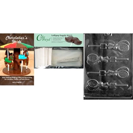 Cybrtrayd Tennis Racquet Lolly Chocolate Mold With