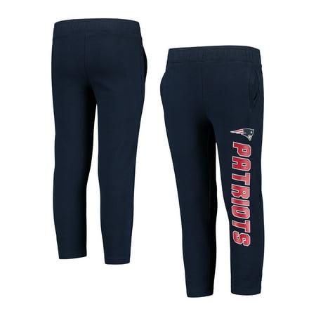 Youth Navy New England Patriots Fleece Sweatpants
