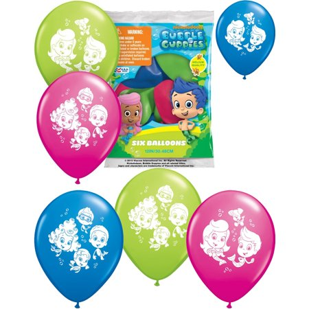 Fish Pinata (Set of 6 Bubble Guppies Balloons 12
