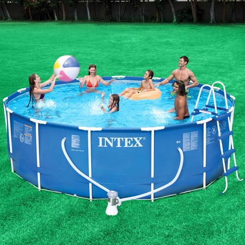 "Intex 15"" x 48"" Metal Frame Above Ground Swimming Pool"