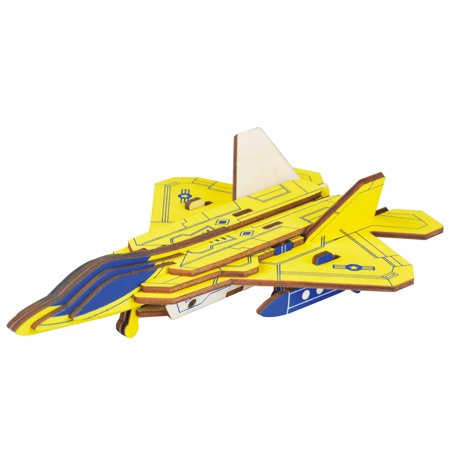23 Pieces Lockheed Martin F-22 Raptor Jet Model Kit - Wooden Laser-Cut 3D Puzzle