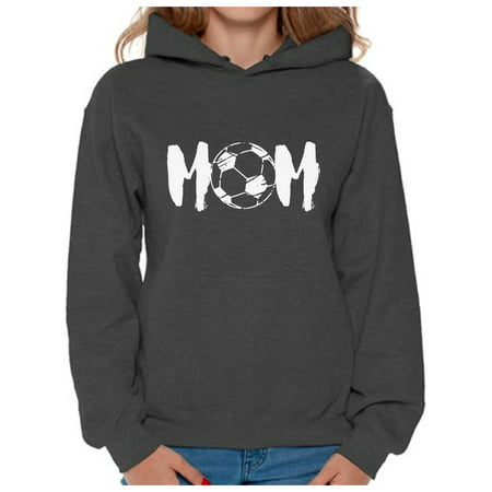 Awkward Styles Women's Soccer MOM Motherhood Graphic Hoodie Tops White Sport Mom Gift Idea