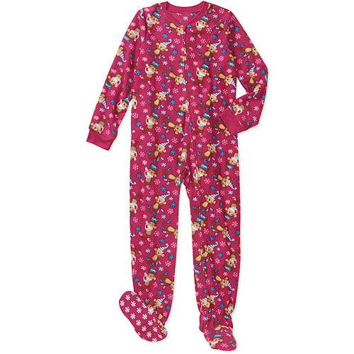 Faded Glory Girls' Footed Blanket Sleeper Pajama