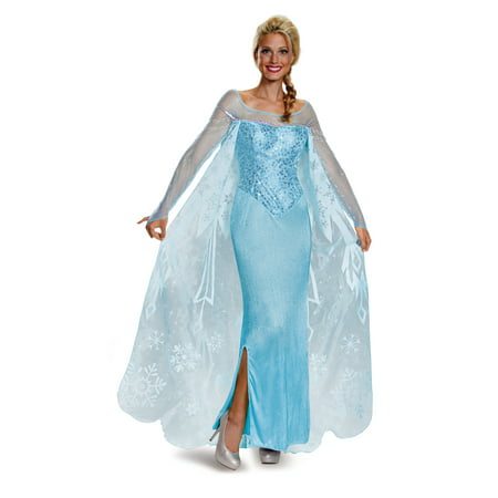 Frozen Adult Costumes (Frozen Elsa Prestige Women's Plus Size Adult Halloween Costume,)