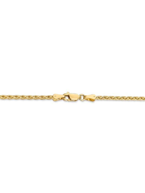 14kt White Gold 1.2mm Parisian Wheat Chain; 20 inch