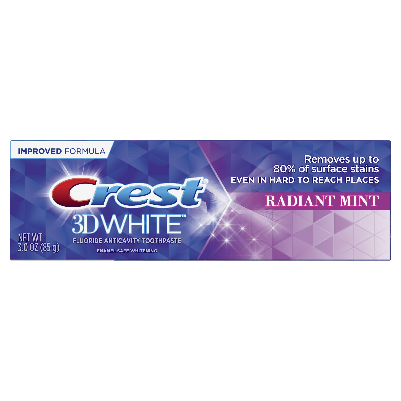 Crest 3d White Whitening Toothpaste Radiant Mint 3 0 Oz