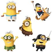 Minions Shaped Stickers - Birthday Party Supplies & Favors - 50 per Pack