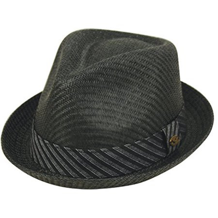 9babe4d3e39b7 Epoch hats - Mens Summer Fedora Cuban Style Upturn Short Brim Hat (S ...