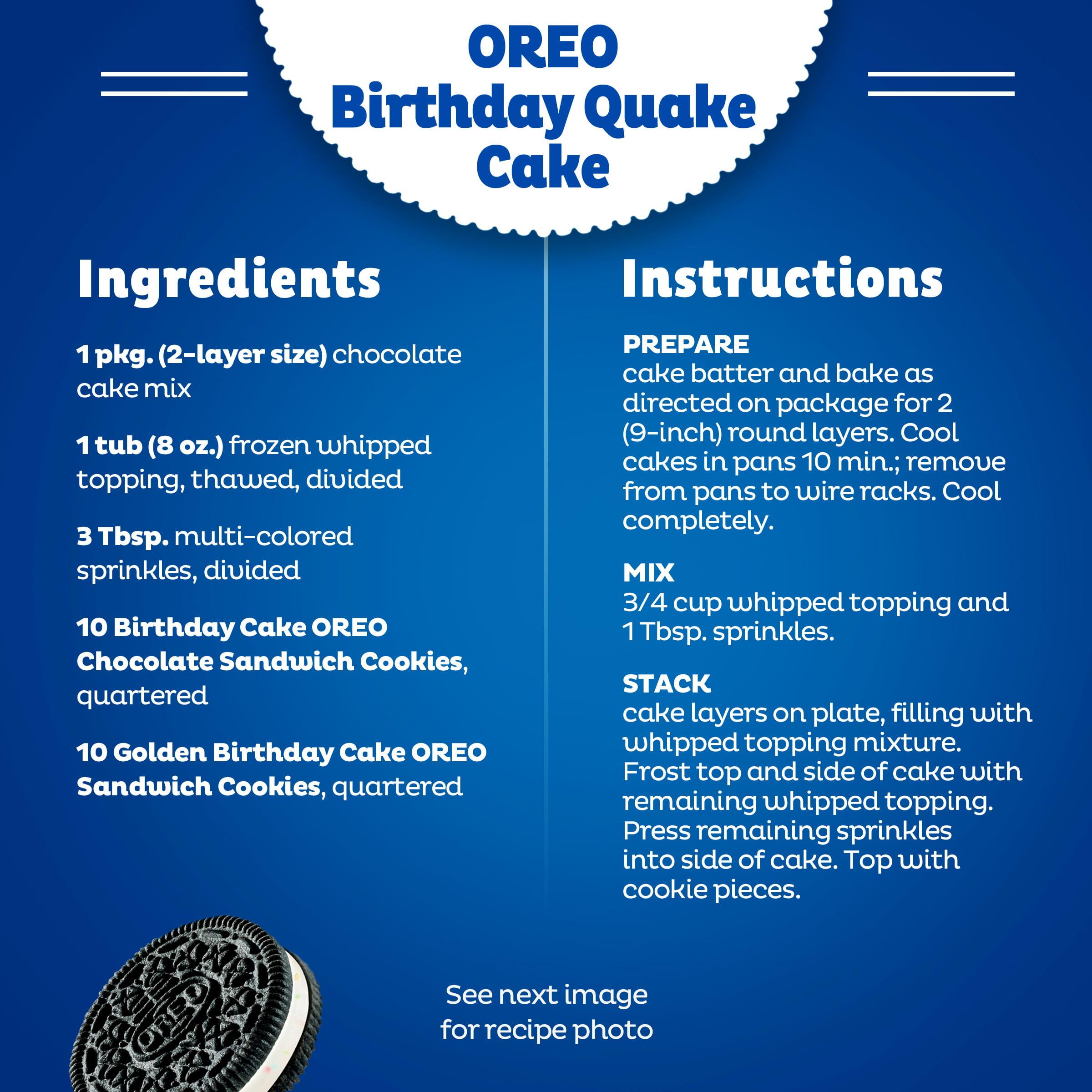 Terrific Oreo Birthday Cake Chocolate Sandwich Cookies 15 25 Oz Walmart Personalised Birthday Cards Vishlily Jamesorg