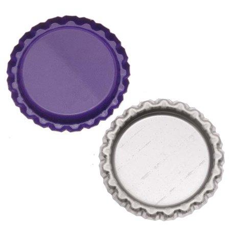 New Purple Flat Crown Bottle Caps Craft Scrapbook Jewelry No Liners (50)