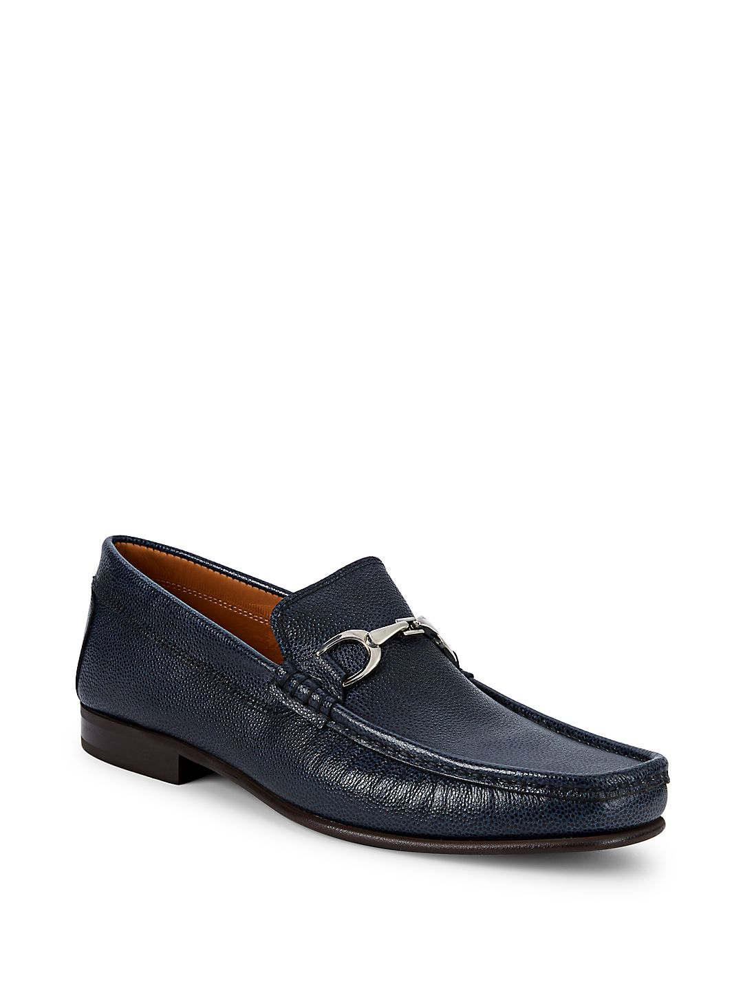 Darrin Hardware-Bit Leather Loafers