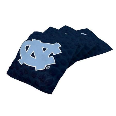 North Carolina Tar Heels 4-Pack Pigskin Cornhole Bean Bags Set - No Size