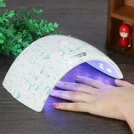 WALFRONT Nail Dryer, 36W Sensor Manicure Light Lamp 18 LEDs Gel Polish Curing Lamp - image 2 de 4
