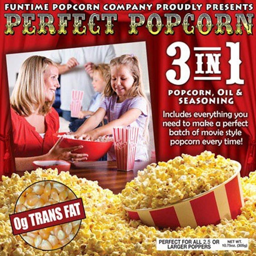 FunTime Perfect Popcorn 4 oz 3-in-1 Popcorn Pouches