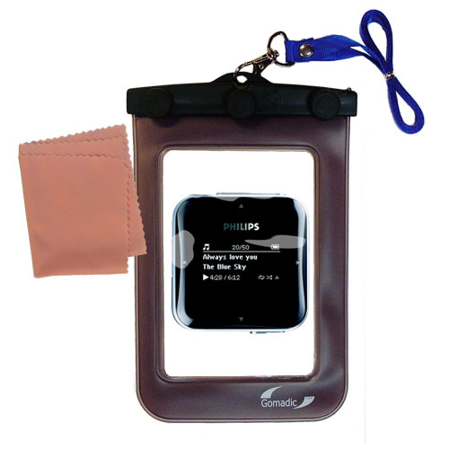 Gomadic Clean and Dry Waterproof Protective Case Suitablefor the Philips GoGear SA2845 to use Underwater