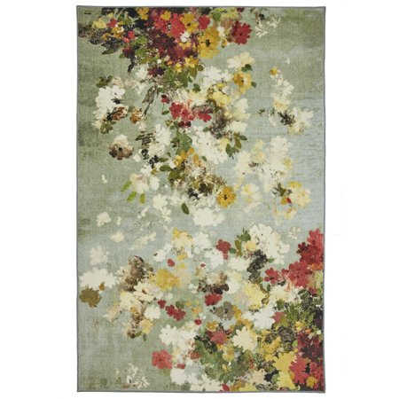 - Mohawk Prismatic Area Rugs - Z0363 A416 Contemporary Sienna Water Painting Blossoms Petals Buds Rug