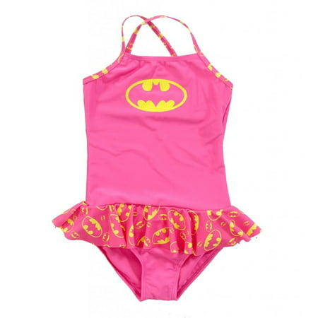 Batman Skirted 1 Piece Infant Girls Bathing - Batman Skirt